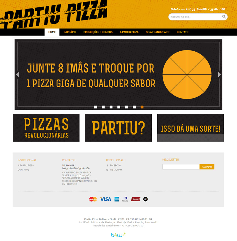 Loja Virtual - Partiu Pizza